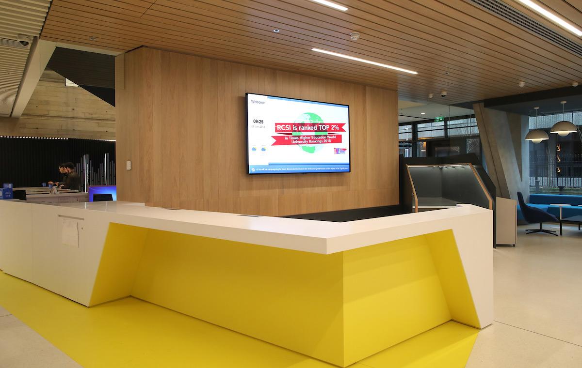 RCSI Reception Digital Signage Image 2